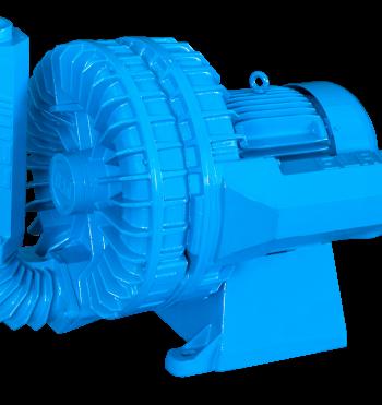 Os compressores radiais duplo são confeccionados em alumínio fundido com uma aproximação mínima entre a carcaça e o rotor para um melhor aproveitamento